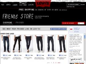 Levi's e Facebook